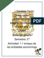 Información Financiera Entidad Económica
