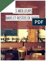 Guide Gratuit Des Bars Et Restos a Paris