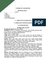 Scheme of Case History