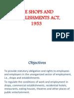 Shops &Establishments Act