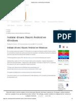 Instalar Drivers Xiaomi Android en Windows