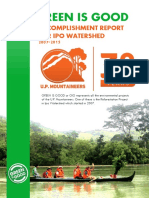 U.P. Mountaineers' Ipo Watershed Accomplishment Report (2007 to 2015)