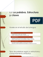 T.1 La Palabra. Estructura y Clases