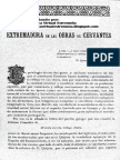 Extremadura en la obra de Cervantes por Daniel Berjano Escobar. Revista de Extremadura LXXI/Junio 1905