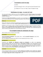 Presentation Orale Du Stage