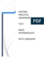 Oxford Practice Grammar Test