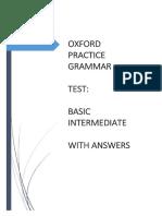 Oxford Practice Grammar Test