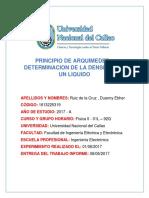 Informe Fisica II- Princio de Arquimedes