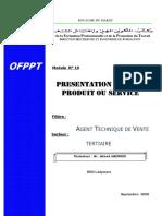 M14 Présentation Dossier Produit Ou Service-AGC-ATV