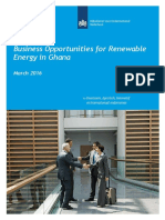 Business Opportunities for Renewable Energy in Ghana