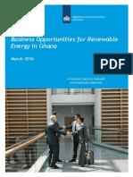 Business Opportunities for Renewable Energy in Ghana