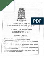 2012-1 Jornada 1 Versión 1
