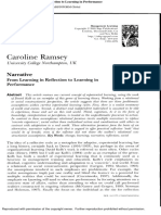 Article - From Learning in Reflection to Learning in Performance