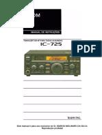 Manual Icom IC725