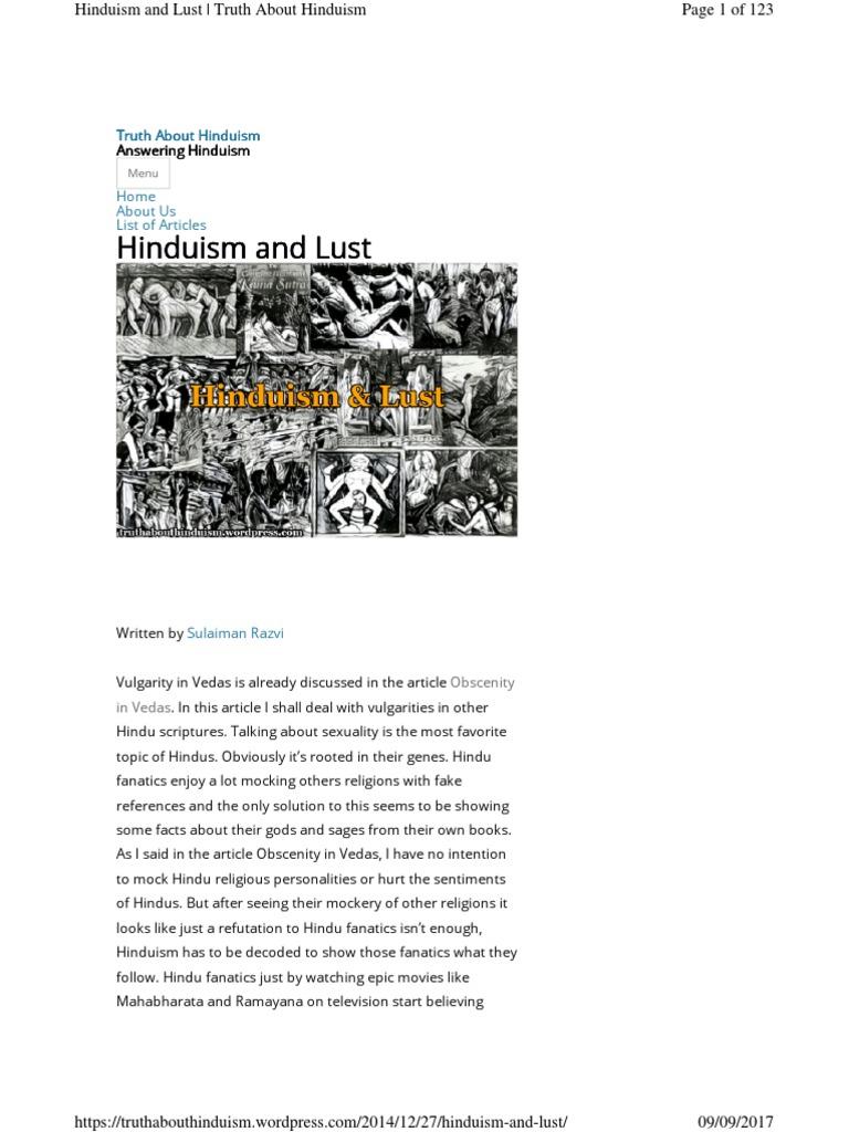 Hinduism and Lust | Shiva | Hindu Mythology