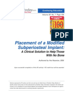 Implant Subperiostal Nou