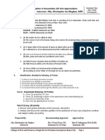 Prelim Examination in Humanities 101