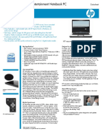 HP Pavillion Dv6500 Data Sheet