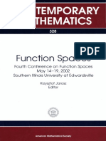 Function Spaces