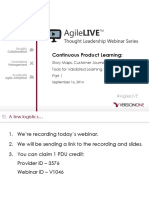 Agilelive Continuous Product Learning Part1 140929184738 Phpapp02