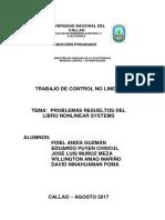 Ejercicios de Sistemas de Control No Lineal