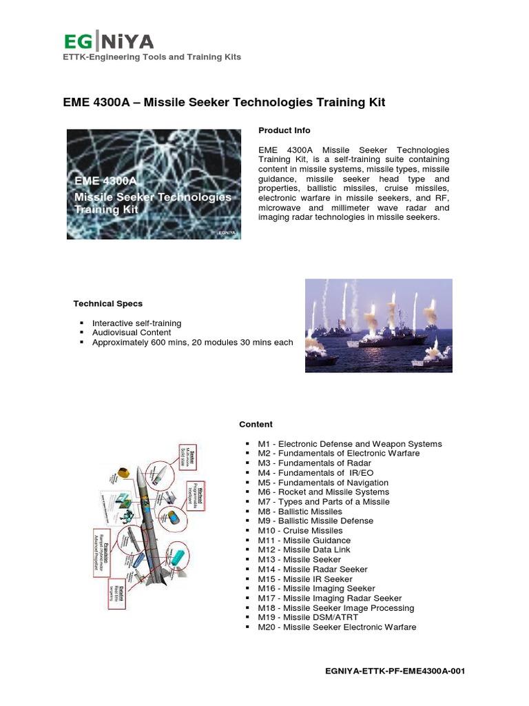 EME 4300A – Missile Seeker Technologies Training Kit   Missile