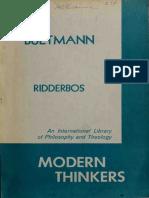 Bultmann - Herman Ridderbos 1960