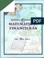 s.- Manual de Prácticas de Matemáticas Financieras