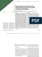 Artigo - A Superposição de Escalas Na Rede Urbano-regional de Juiz de Fora, MG - Montagem Metodológica.