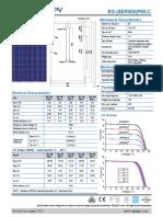 Carte Tehnica Panou Fotovoltaic Cu Celule Policristaline Eging 250 W