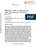 MEDICAL CARE at the END of LIFE- The Interaction of Economics and Ethics