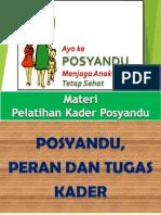 3. Posyandu, Peran & Tugas Kader