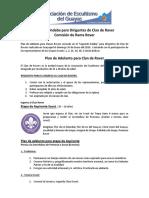 Plan de Adelanto Rover 2014 Scouts Del Guayas.