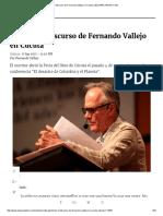 Discurso de Fernando Vallejo en Cúcuta _ ELESPECTADOR