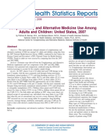 Complementary and Alternative Medicine Use Among Adults and Children- United States, 2007