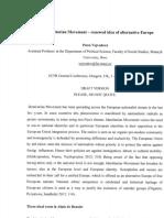 Reading Notes - The Identitarian Movement - Renewed Idea of Alternative Europe