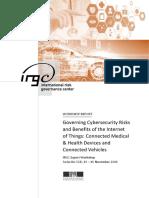 IRGC. 2017. Cybersecurity in the IoT. Workshop Report
