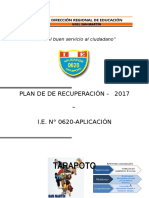 Plan de Recuperacion UGEL San Martín