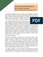 12 TRIBOS de ISRAEL Divisao-palestina