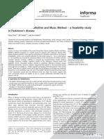 Rhythm and Music Method – a Feasibility Study in Parkinson's Disease