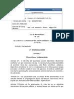 Ley N 2018 Ley de Asociaciones
