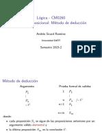 Metodo de Deduccion Logica Proposicional Diapositivas