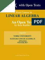 Kuttler LinearAlgebra AFirstCourse YorkU MATH2022 Winter2017