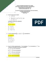 2S-2015 Matemáticas PrimeraEvaluacion08H30VersionCero