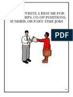 Resumes for Undergraduates.pdf