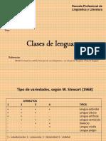 Clases de Lenguas