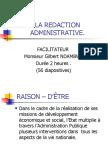 La Redaction Administrative (Gilbert Ndambwe)