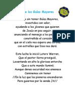 Himno de Los Guías Mayores, Himno Nacional