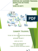 A PRESENTATION ON SUMMER TRAINING COMMUNICATION NETWORK  AND NETWORK SECURITY