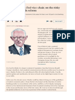 Stanley Fischer, Fed vice-chair, on the risky business of bank reform, Fuente FT